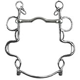 Stainless Steel. Curb chain included. <i>Made in England</i>.<br><br>
