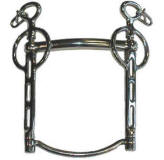 Stainless steel. Curb chain included. <i>Made in England</i>.<br><br> 5&quot;, 5 1/2&quot;