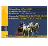 <i>by Hans Krasensky</i><br> Complete list of terminology used in carriage driving in German, English, French, Italian, and Spanish. Specific names of all harness parts, carriage parts, and terms commonly used during competition are included. The standardization of technical terms provides a useful tool to communicate within the global sport of carriage driving. HB 223pp.