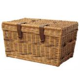 Large Flat Top Wicker Basket