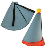 These easy-to-install covers are made of 100% cotton duck cloth and fit snugly around FEI Driving Cones. Velcro closure insures proper fit. Economical solution to meet FEI alternate-route (reduced width) cones requirement.