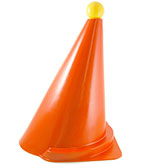 These international driving cones are the standard ones used throughout Europe, and meet all FEI specifications. Beware of imitations. Look for the makers mark to insure the highest quality available in the world. Marker ball sold separately. <em>Made in Germany</em>. <br /> <br /> <b>Marker Ball</b><br /> This FEI cone marker ball is filled and sealed, so no need to