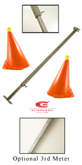 This sturdy, precision measuring stick makes it fast and easy to measure cone width on the obstacle course. Each centimeter mark is etched into the aluminum tubing, from 1cm to 200cm. With this measuring stick, just a few volunteers can quickly reset cones in an obstacle course. It is designed to also be used to measure carriage track widths. Easy to dismantle for thorough cleaning if necessary <em>(Allen/hex wrenches included).</em>