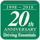 20th Anniversary Sticker Driving Essentials