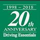 20th Anniversary Sticker Driving Essentials