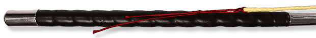 Fleck Hollowglass Driving Whip with Leather Grip and 100cm Leather Lash